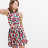PRINTED CROSSOVER DRESS