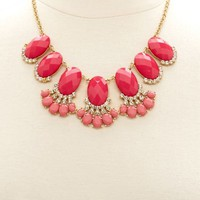 FACETED STONE STATEMENT COLLAR NECKLACE
