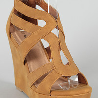 Lindy-3 Strappy Open Toe Wedge