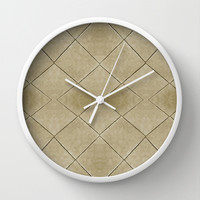 Geometric Floor  Wall Clock by Danflcreativo