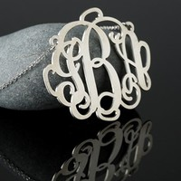 Personalized Sterling Silver Monogram Necklace