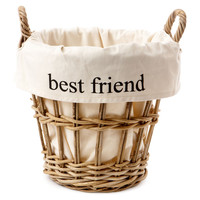 'Best Friend' Toy Wicker BasketFRENCH LAUNDRY HOME