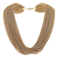 MULTI ROW CHAIN NECKLACE