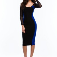 Hourglass Figure Midi Dress