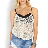 Flower Child Crochet Tank