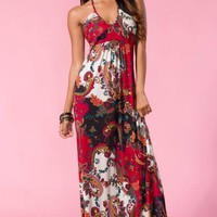 Paisley Print Maxi Dress #floral #maxi #spring #love #want #need #wish #cute