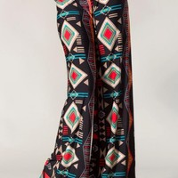 Black Multi Print Wide Leg Pants #aztec #tribal #geometric #love #want #need #wish #cute