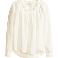 Blouse in a silk mix - from H&M