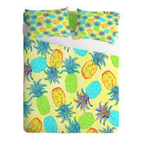 Lisa Argyropoulos Pineapple Pandemonium Yellow Sheet Set