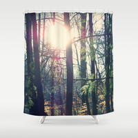 Forest Shower Curtain by Yoshigirl