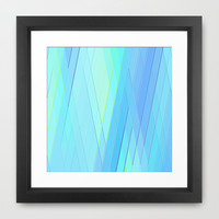 Re-Created Vertices No. 19 Framed Art Print by Robert S. Lee
