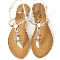 Wild Rose Rincon-06 Jewel Slingback Sandals | MakeMeChic.com