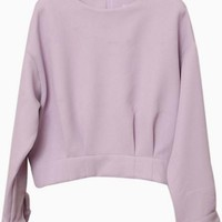 Lavender Long Sleeve Darted Sweater #lavender #spring #preppy #love #want #need #wish #cute