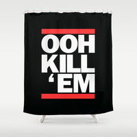 Ooh Kill Em RUN DMC Shower Curtain by RexLambo