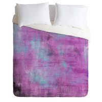 Allyson Johnson Purple Paint Duvet Cover