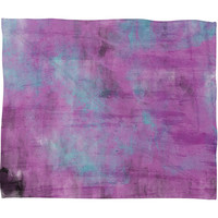 Allyson Johnson Purple Paint Fleece Throw Blanket