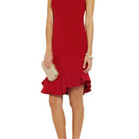 Notte by Marchesa Ruffled silk dress – 55% at THE OUTNET.COM