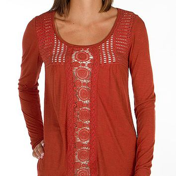 Daytrip Crochet Inset Top