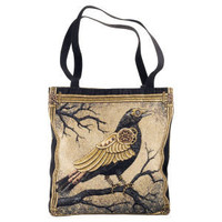 Clockwork Crow Tote - New Age & Spiritual Gifts at Pyramid Collection