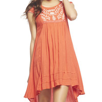 Embroidered High Low Dress | Wet Seal