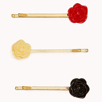 Carved Rosette Hair Pins