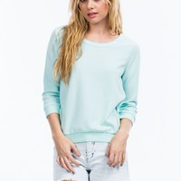 Textured Double Zipper Sweatshirt