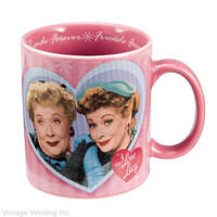 I Love Lucy Decal Mugs Friends Gifts Coffee Mugs from RetroPlanet.com