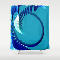 Curveball Shower Curtain by Eric Rasmussen