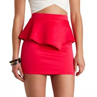 ASYMMETRICAL PEPLUM MINI SKIRT