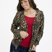 Cardigan - Leopard Brown