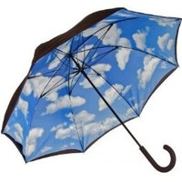 Elite Rain Adult Lotus Frame Hand Held Umbrella Inside