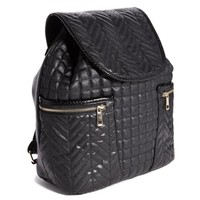 River Island Quilted Backpack