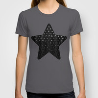 Polka Dot Black Jewels G191 T-shirt by MedusArt