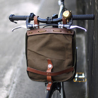 sale -vintage khaki swiss military bread bag & bike pack - 2nds