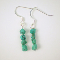 Turquoise Chip Earrings