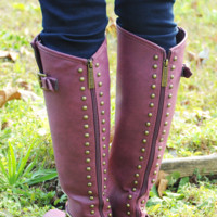 Up All Night Boots: Berry | Hope's