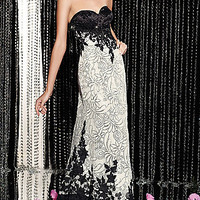 Floor Length Beaded Dress by Alyce
