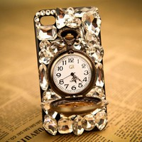 Fashion Rhinestone Retro Watch Hard Cover Protective Case For Iphone 4/4s/5 for big sale!