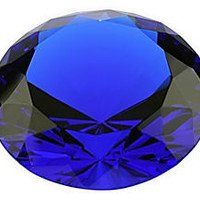 Sapphire Cut Crystal Diamond, Asst. of 3