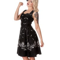 Hell Bunny Adare 50's Dress Black & White | Gothic Clothing | Emo clothing | Alternative clothing | Punk clothing - Chaotic Clothing