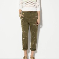 AE SPLATTERED BOY JEAN CROP PANT