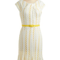 Eva Franco Lemon Fizz Dress | Mod Retro Vintage Printed Dresses | ModCloth.com