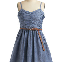 Fro Yo Making Dress in Blueberry | Mod Retro Vintage Dresses | ModCloth.com