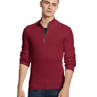 INC International Concepts Sweater, Ribbed Sam Quarter Zip Sweater