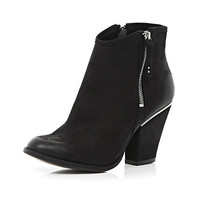 Black smart western ankle boots - ankle boots - shoes / boots - women