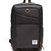Gray square laptop backpack