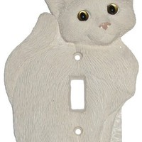 House Cat Kitten White Single Switch Plate Cover