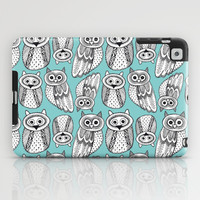 Hand dravn Cute Owl  iPad Case by EkaterinaP