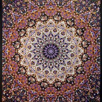 Sunshine Joy® Glow in the Dark India Star Tapestry Wall Hanging Trippy Table Cloth Magical Dorm Decor - Huge 60x90 Inches