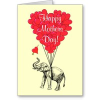 Romantic elephant mothers day